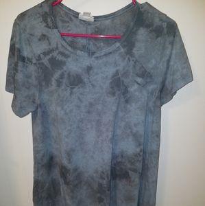 Lularoe Carly acid wash blue Grey tie dye Small